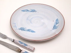 Eat like a bird, tin glazed earthenware Tatham & Day